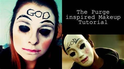 The Purge Halloween Mask by The Purge Inspired Halloween Makeup Tutorial Youtube