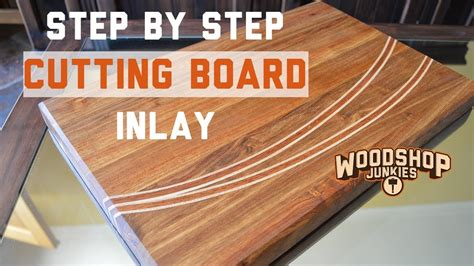 making  wooden chopping board  inlay step  step