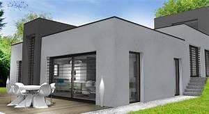 maison moderne sur terrain en pente great agrandir aria With superb photo maison toit plat 8 photo de maison design darchitecte toit plat