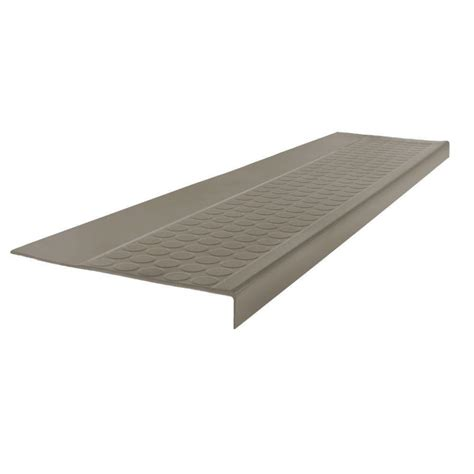 vinyl stair treads home depot roppe low circular profile pewter 12 5 in x 48 in rubber square nose stair tread 48923p178