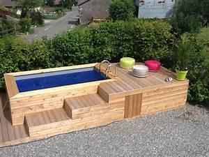 Mini Pool Terrasse : d couvrez les mini piscines en bois vercors piscine ~ Michelbontemps.com Haus und Dekorationen