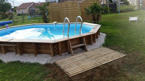 piscine bois semi enterre installation piscine semi enterree bois davidreed co