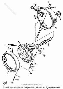 Yamaha Motorcycle 1972 Oem Parts Diagram For Head Lamp