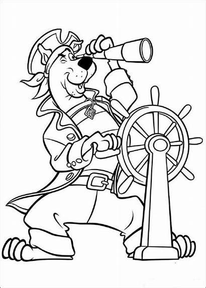 Coloring Scooby Doo Pirate Mentve Coloringareas Innen