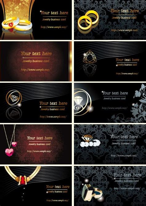 jewelry business cards vector  jewelry business