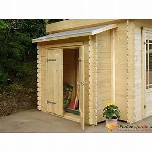 Remise adossee pour abri de jardin en bois l178cm achat for Remise en bois pour jardin