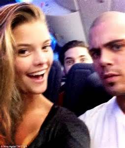 The Wanted's Max George's girlfriend Nina Agdal models ...