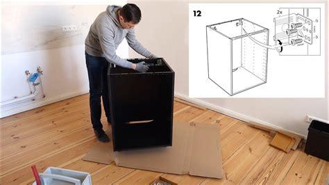 Ikea Kuche Selbst Aufbauen ikea metod unterschrank aufbau f 252 r einbauofen sp 252 le