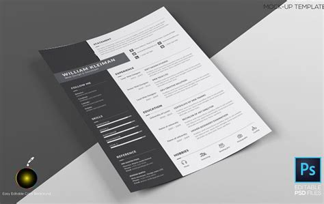 Mock Resume Templates by 10 Free Photorealistic Cv Resume Mockup Psd Xdesigns