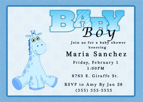 Printable Baby Boy Shower Invitations Template Printable Free Baby Boy Shower Invitations Templates Baby Boy