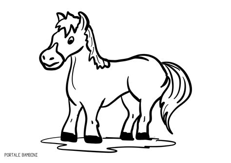 disegni  cavalli da colorare portale bambini meglio