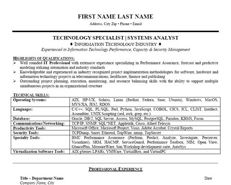 Technology Specialist Resume by Technology Specialist Resume Template Premium Resume Sles Exle