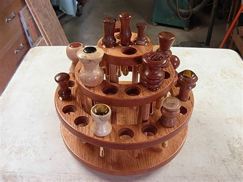 oak wine bottle stopper display rack   jim