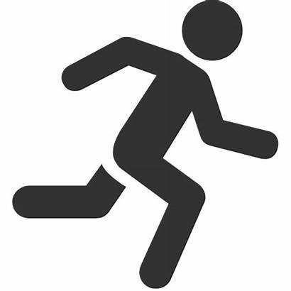 Symbol Laufen Mann Icon Icons Running Icono