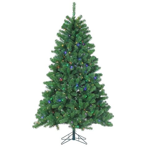 sterling nine foot flocked led trees sterling 7 ft pre lit led montana pine artificial tree with multicolored lights 6344