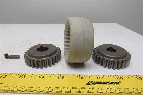 ohio gear    shaft hub nylon gear coupling bullseye industrial sales