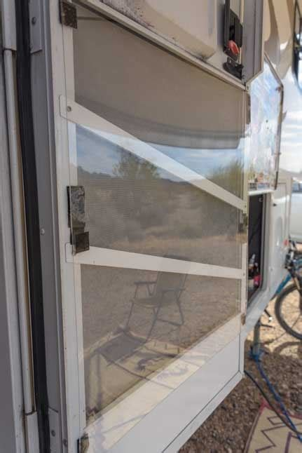 rv screen door rv screen door modifications upgrades roads less traveled