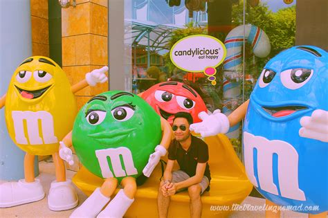 M&m's World Characters Yellow, Green, Red And Blue At