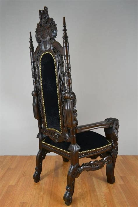 King Edwards Chair Carvings by King Throne Chair Made Solid Teak Wood Ornate Carving