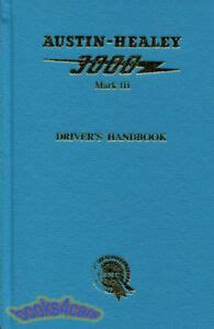 austin healey  owners manual drivers handbook book