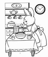 Coloring Baking Pages Colouring Flour Cakes Drawing Google Easter Stamps Kitchen Clip Funny Bunnies Bunny Cooking Digital Printable Unique Projects sketch template