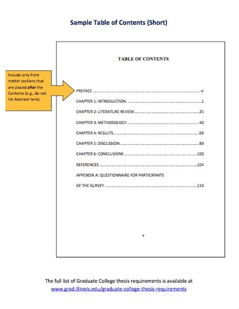 Table Of Contents Template 20 Table Of Contents Templates And Exles Free
