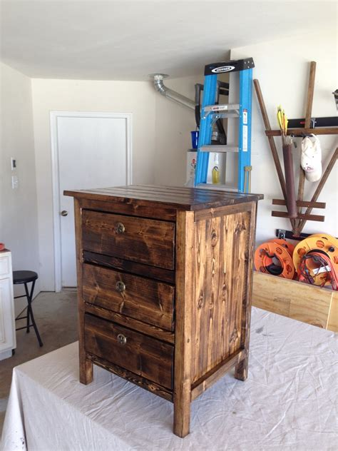 ana white reclaimed wood  bedside table st project