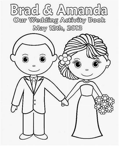 Coloring Printable Activity Personalized Books Bride Sheets