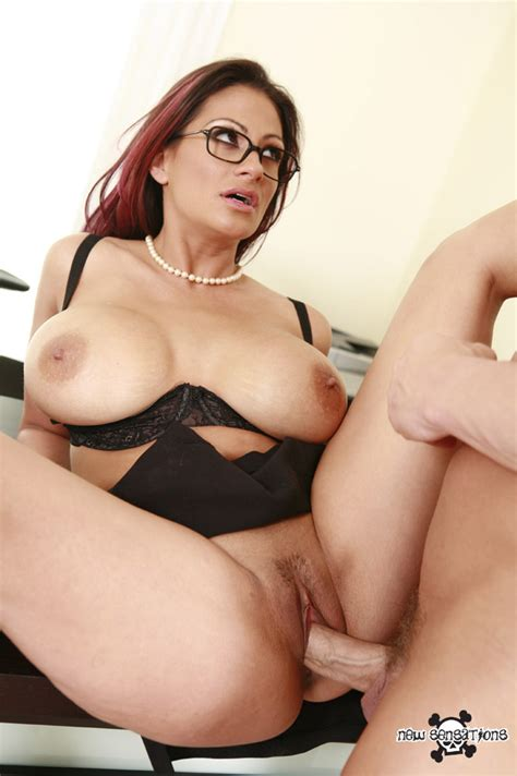 Glasses Clad Secretary ava lauren Whips Out Her Big Boobs To Suck Office Cock
