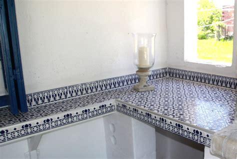 Mosaikfliese Arabesco Blau Maurische Spanische Orient