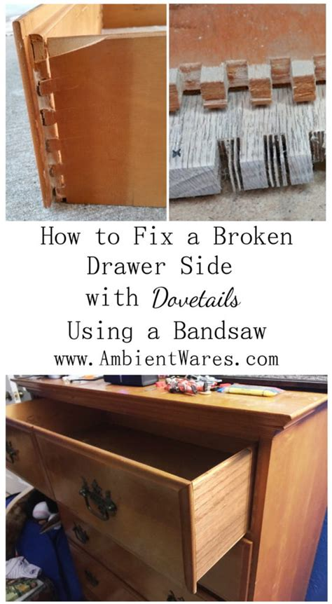 how to fix a drawer how to fix a broken drawer side with dovetails using a