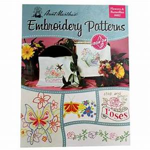 flowers butterflies iron on embroidery patterns hobby With heat transfer letters hobby lobby