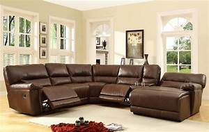 Homelegance Blythe Sectional Sofa Set Brown Bonded