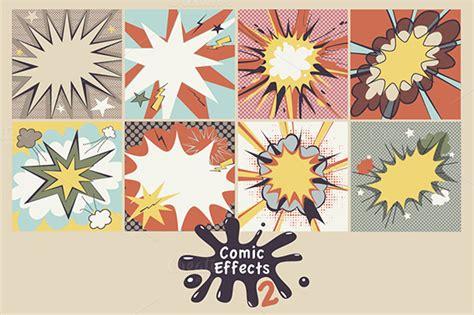 cursive letters font comic effects 2 illustrations on creative market 30573