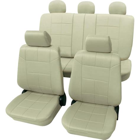 housse siege auto beige housse de siège 17 pièces petex 22574909 polyester beige
