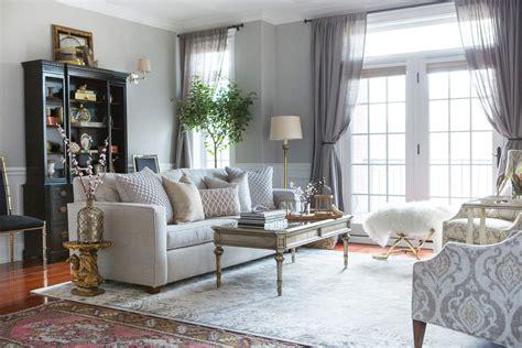 centered  design neutral  gray living room decor