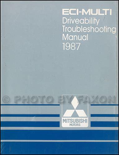 auto repair manual online 1987 mitsubishi mirage electronic valve timing 1987 mitsubishi eci multi engine driveability troubleshooting manual original galant van