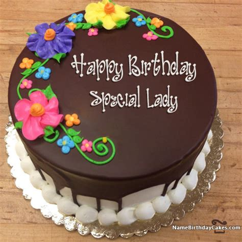 happy birthday special lady cakes cards wishes