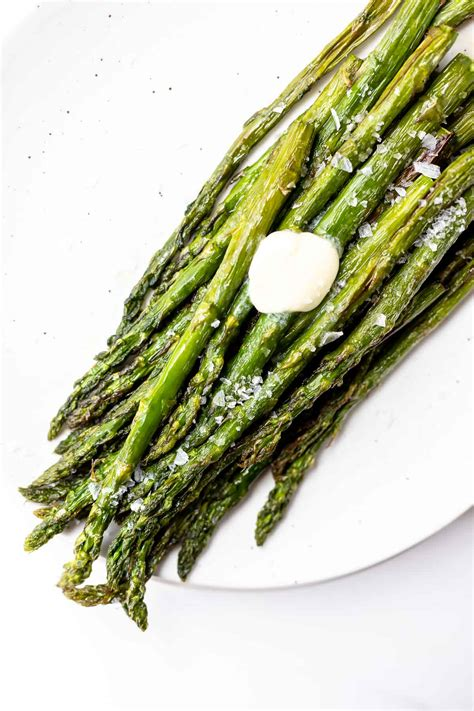 asparagus air fryer recipe fried roasted keto cook healthy recipes side airfryer minutes plate veggie vegetable meal dish goes makes