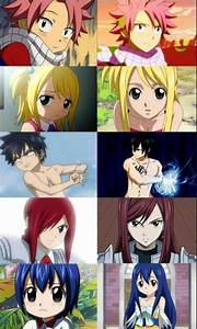 Fairy Tail - Characters names from top to bottom: Natsu ...