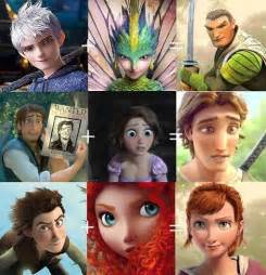 Jack Frost Rapunzel Merida and Hiccup