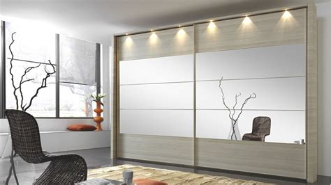 Modern Wardrobe by Stylform Eos 200 400cm Wood Mirror Sliding Door Wardrobe