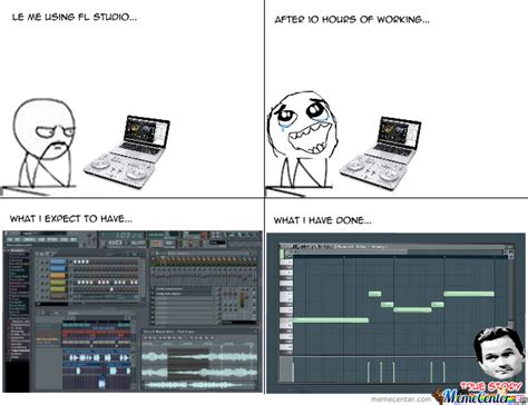 Studio Memes - using fl studio by alva nacho1298 meme center