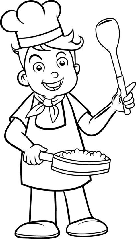 coloriage recette de cuisine coloriage cuisinier les beaux dessins de personnages à imprimer et colorier