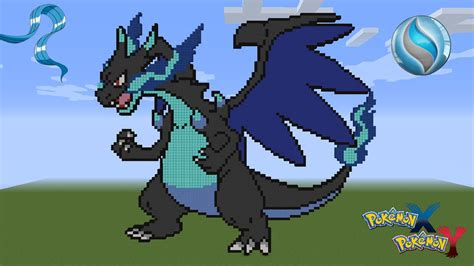 minecraft pixel art pokemon charizard  mega evolution