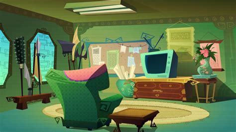 2d Animation Background Concept (chuck Chicken ) By Ciciy