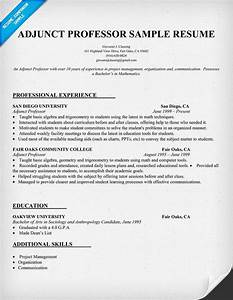 resume example for adjunct professor resumecompanioncom With resume samples for faculty positions