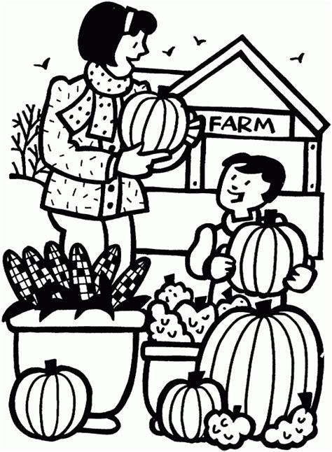 pumpkin farm  printable coloring pages