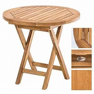 Gartentisch Holz Massiv : clp gartentisch moon rund 50 cm teak holz massiv klappbar h he 45 cm teak m bel24 ~ Orissabook.com Haus und Dekorationen