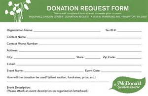 Donation Request Form Template